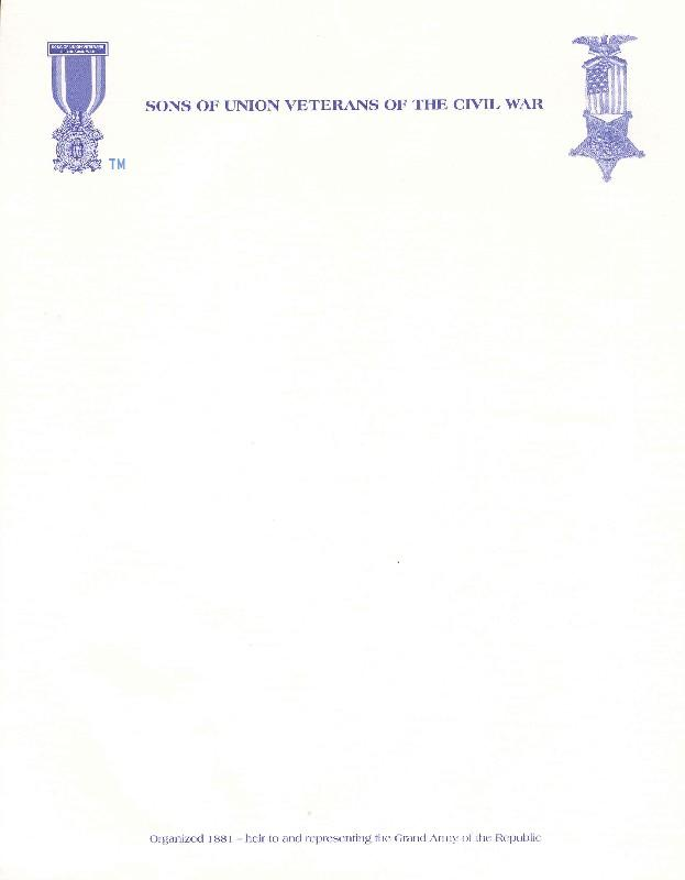 SUVCW Letterhead Stationary